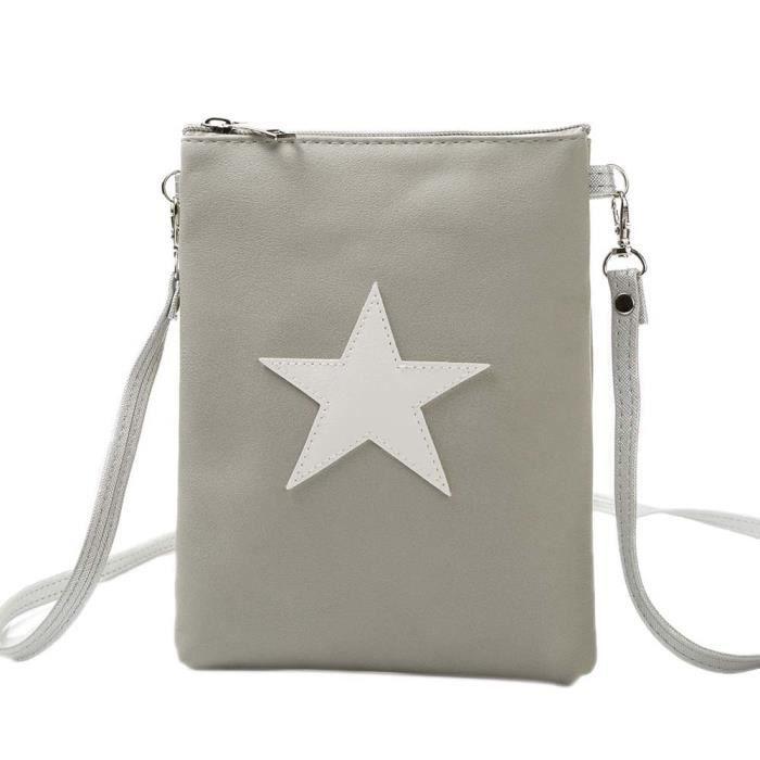Napoulen®Mode étoiles sacs à bandoulière messager sacoche téléphone Loisirs pour Femmes-XPP11127815