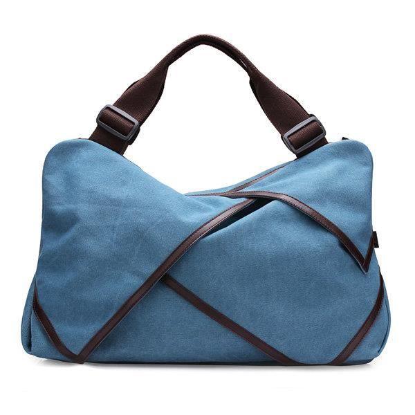 SBBKO1759Toile portable tote sacs à main fleur design épaule Sacs bandoulière sacs big bag Bleu L