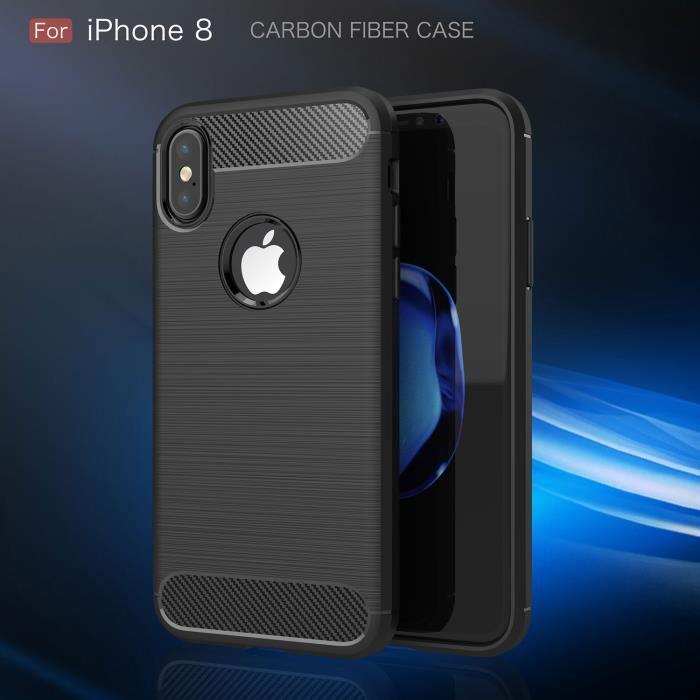 coque iphone 8 noir prenium