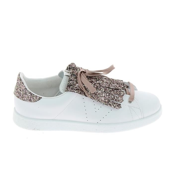 90a18e7f360d6 Basket -mode - Sneakers VICTORIA Sneakers 1125128 Blanc Franges Roses