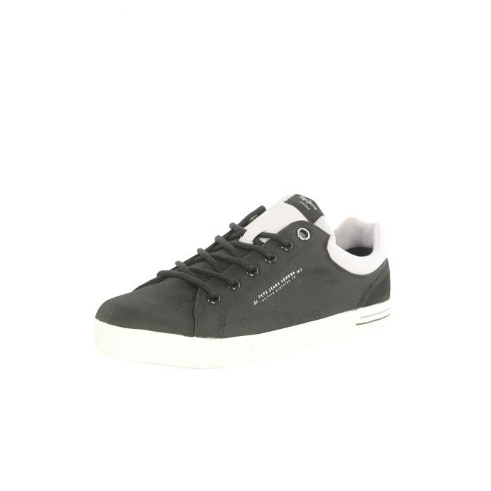 Sneakers toile PMS30350 North -PEPE JEANS Noir Homme