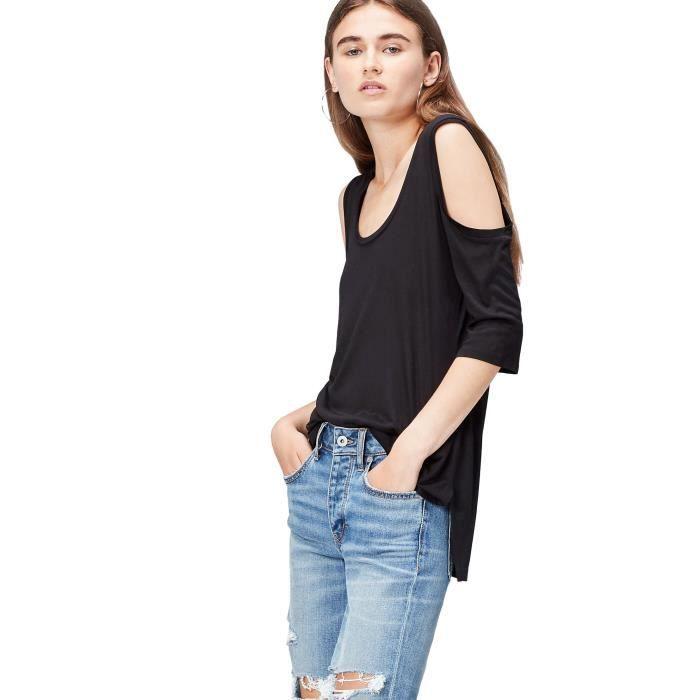 7f1906c7d78f T-shirt Epaules Dénudées Femme 1D8ZCC Taille-32 Noir Noir - Achat ...
