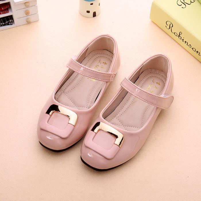 Automne/Printemps Mode Fleur Enfants Chaussures Pour Fille En Cuir Solide Creux Casual Jolies Filles btLw6N