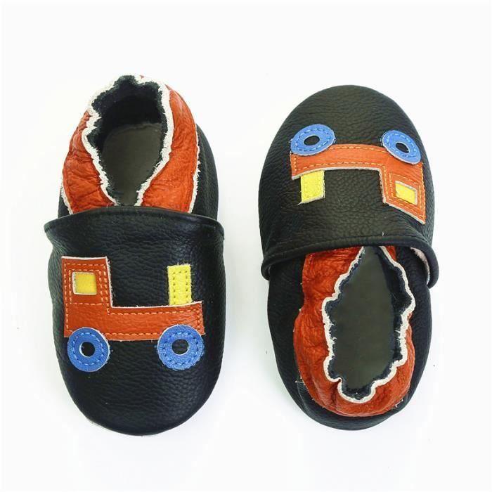 0ec4ca7e53745 CHAUSSON - PANTOUFLE Chaussons bébé et enfant en cuir souple Chaussures