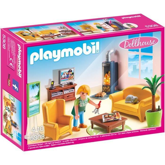 PLAYMOBIL 5308 - La Maison Traditionnelle - Salon avec Poêle à Bois ...