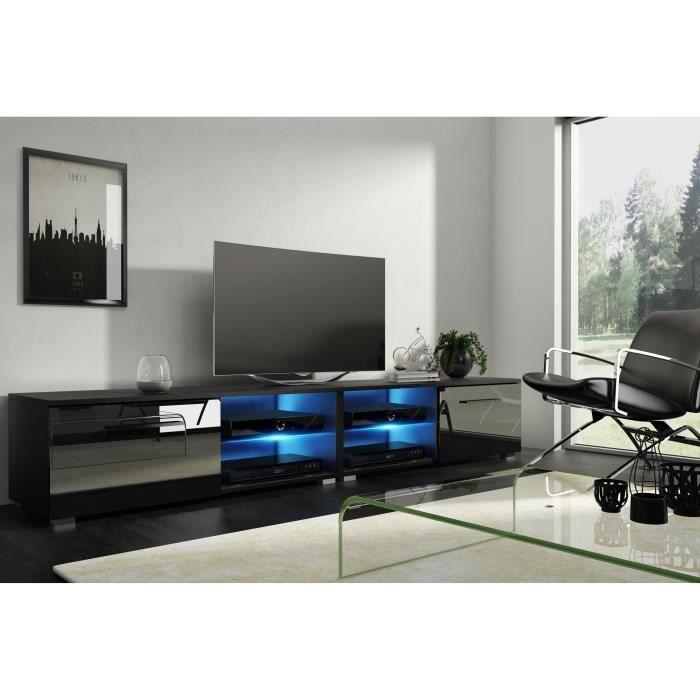 moon 2 double meuble tv design noir mat avec noir Résultat Supérieur 50 Frais Meuble Tv Design Noir Image 2018 Kjs7