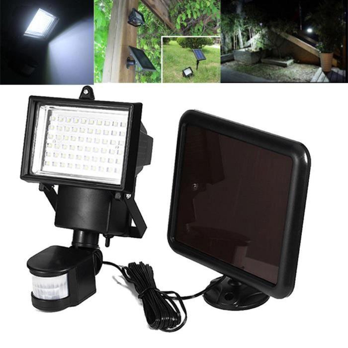 3PCS Projecteur 60 LED Éclairage de Jardin énergie Solaire Lampe ...