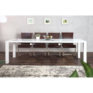 Table salle a manger extensible laque blanc achat for Table salle a manger 240 cm