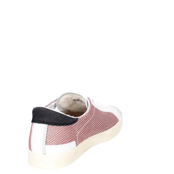 D.a.t.e. Petite Sneakers Homme Blanc/Rouge, 44