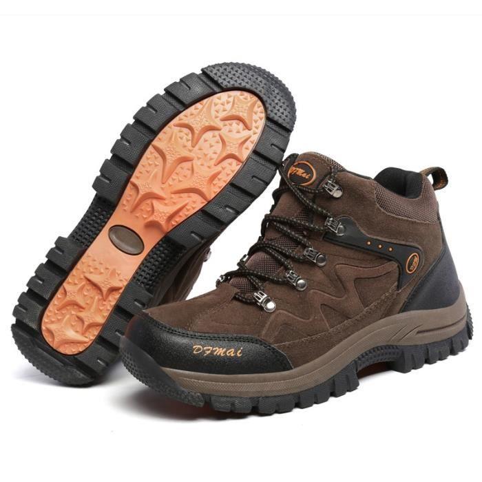 Armée Nubuck Bottes en cuir sport pour hommes