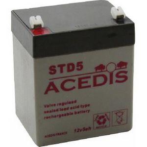 BATTERIE DOMOTIQUE Batterie plomb étanche 12V 5AH - STD5 ACEDIS
