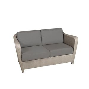 FAUTEUIL Canape 2 places Wicker Briton SEL les Jardins Taup