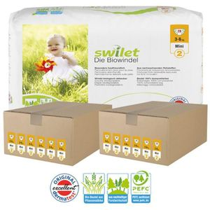 COUCHE Giga pack 336 Couches bio écologiques Swilet taill