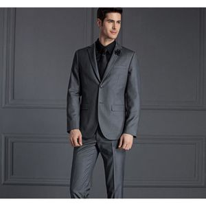 COSTUME - TAILLEUR 2017 Famous Brand Hommes Costumes Wedding Groom Pl 742916fee1a