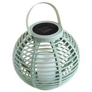 LAMPION MUNDUS Lanterne solaire Ø 22,5 cm - Vert amande