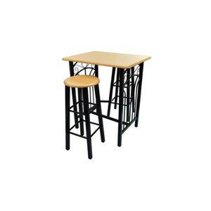 Table de cuisine achat vente table de cuisine pas cher cdiscount - Table de cuisine haute avec tabouret ...