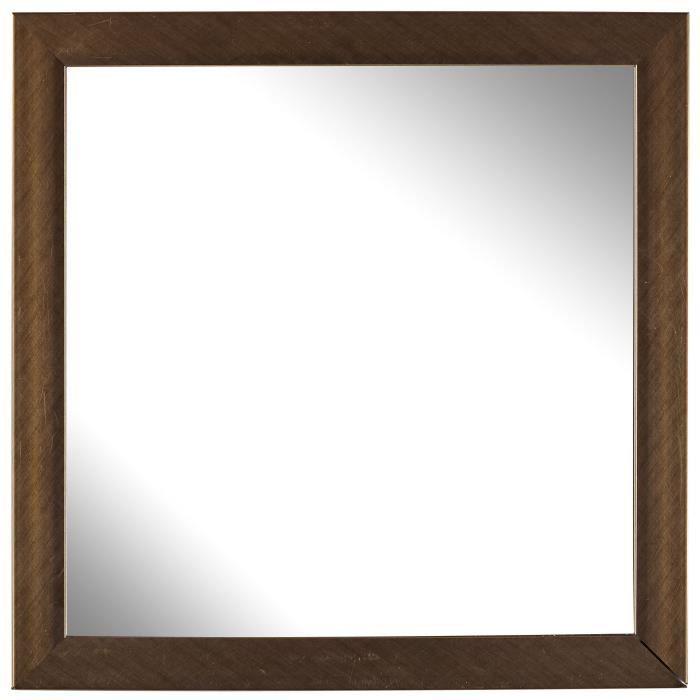 Miroir métallisé - En cuivre et résine plastique - 30 x 30 cmMIROIR