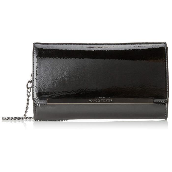 349d42f497 Femmes 61001-21, Sac bandoulière, noir (verni noir), 22x14x4 cm (b XHT)  3K0H0W