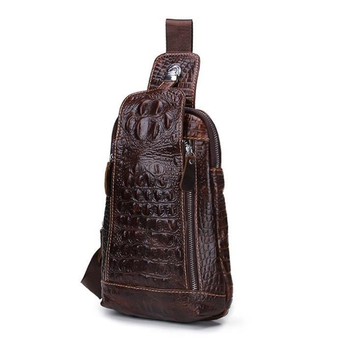Sac à bandoulière vintage sac à bandoulière vintage en cuir véritable alligator hommes s 1T2Y7F