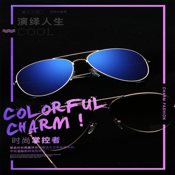 Lunettes de soleil soleil mixte homme et femme Fashion marque de Luxe sunglasses Métal Cadre Taupe