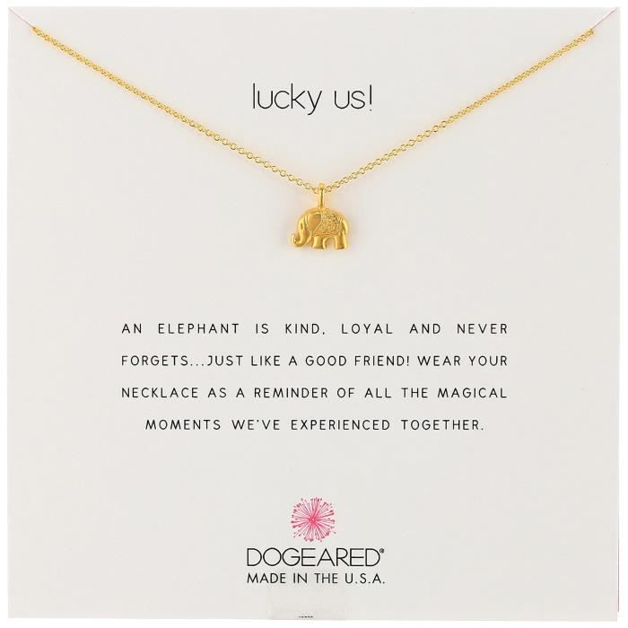 Dogeared Lucky Us Chain Necklace, 16 M8QVT