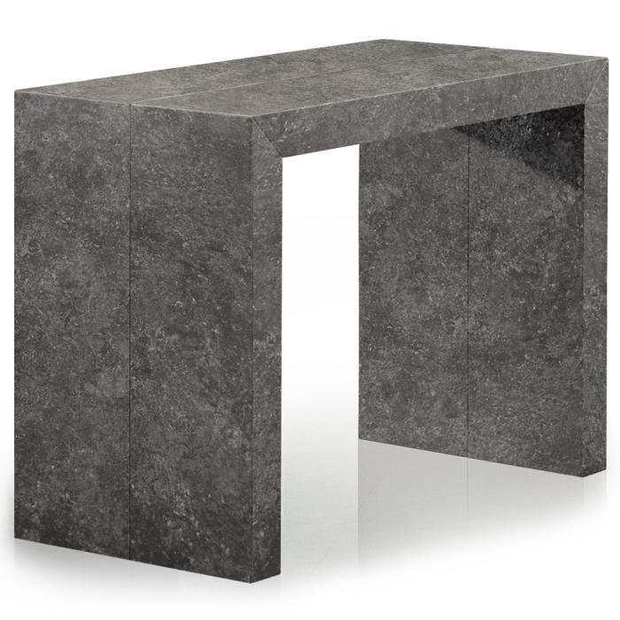 console extensible grise achat vente console extensible grise pas cher cdiscount. Black Bedroom Furniture Sets. Home Design Ideas