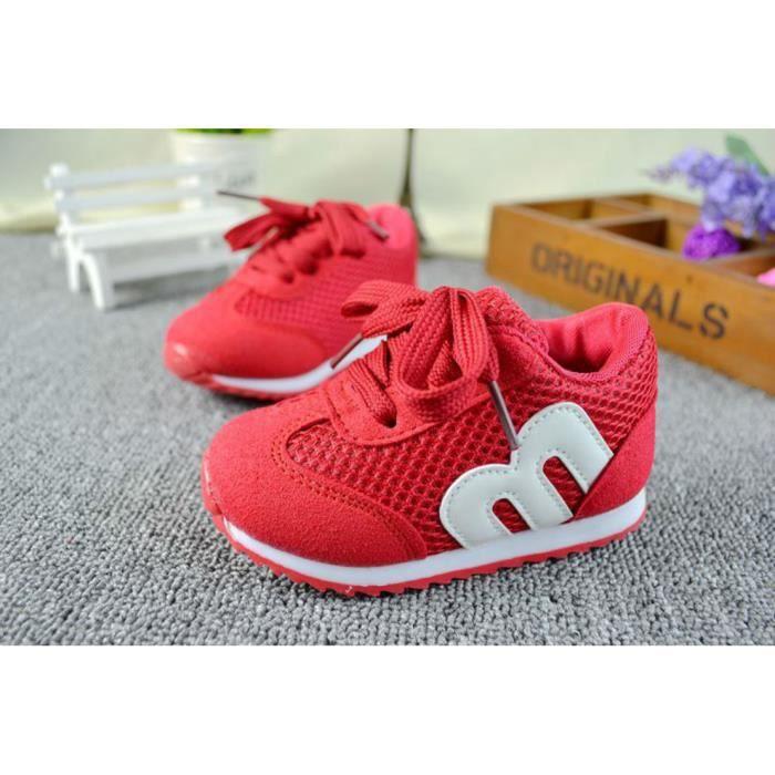 enfants Achat mod Rouge unisexes chaussures ans 0 3 baskets 8wYqPZEx