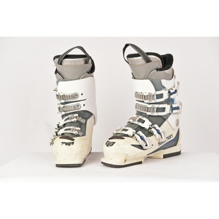Chaussure De Blanc Prix Salomon 550 Bleu Pas Divine Ski Occasion IYeEb9HWD2