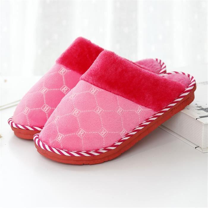 Chaussons Femme Garde Au Chaud Simple Léger Coton Chaussure Meilleure Qualité Nouvelle arrivee Hiver Chausson Confortable Mode 37-41