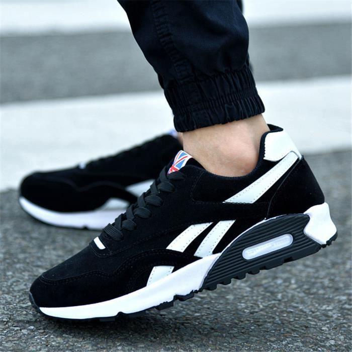 3fae4a62baf10a Sneakers Homme Beau Mode Classique Sneaker Respirant Doux Léger Haut  qualité Chaussure Plus De Couleur Extravagant Durable 39-44 Noir Noir -  Achat / Vente ...