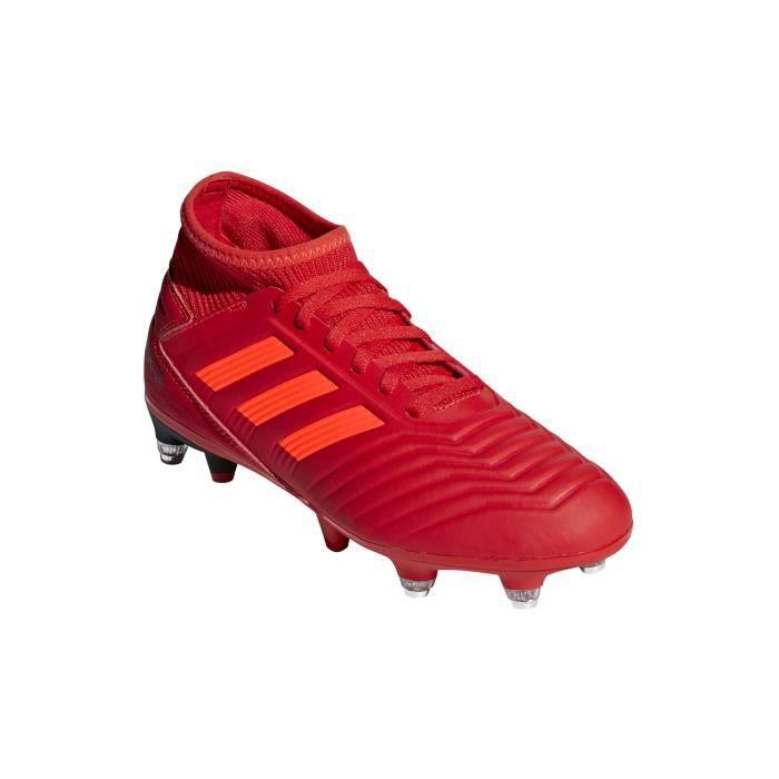 Chaussures de foot adidas Predator 19.3 Sans Lacets FG NoirOr