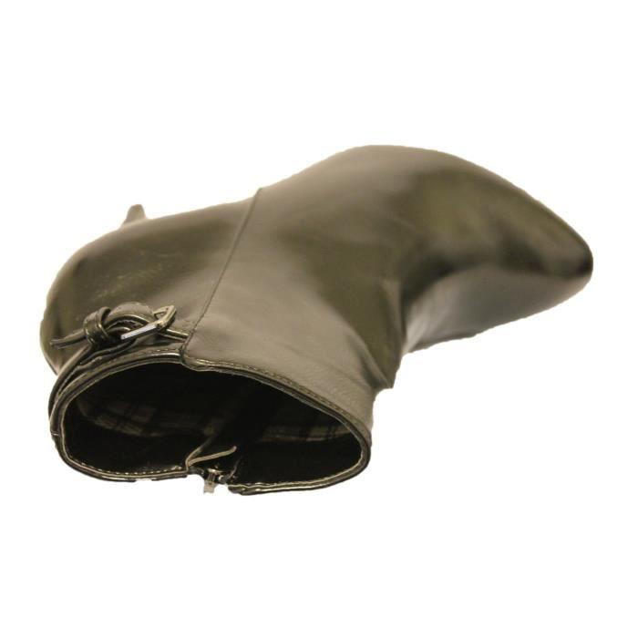 bottines femme noire à talon aiguille