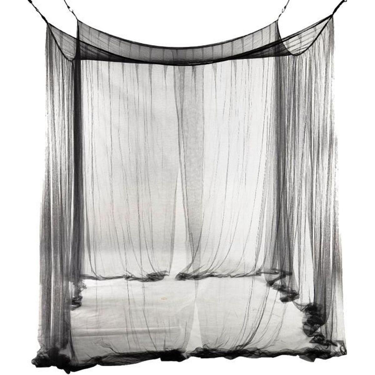 moustiquaire de lit 4 coins achat vente moustiquaire de lit 4 coins pas cher cdiscount. Black Bedroom Furniture Sets. Home Design Ideas