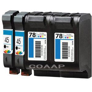CARTOUCHE IMPRIMANTE 4x pour Cartouche d'encre rechargeable hp45 hp78 O