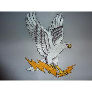 ACCESSOIRE CASQUE Grand patch dorsal thermocollant aigle blanc tenan