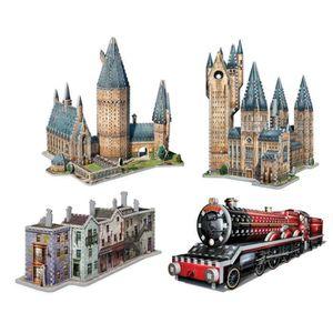 PUZZLE Puzzle 2645 pièces 4 Puzzles 3D - Set Harry Potter