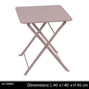 TABLE D'APPOINT TABLE BASSE APPOINT CAMPING METAL PLIANTE PLIABLE