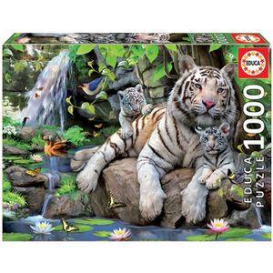 PUZZLE EDUCA Puzzle 1000 Pièces - Tigres Blancs Du Bengal