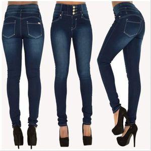 013e513c103 JEANS Nouveauté Indigo bleu pantalon en jeans femme slim. Nouveauté Indigo  bleu pantalon en jeans femme slim élastique taille haute ...