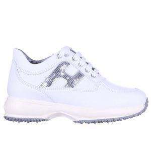 interactive filles fustellata en cuir h baskets sneakers Hogan paillettes Chaussures BxwqCF4B