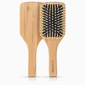 BROSSE - PEIGNE Navaris Brosse à cheveux bois - Brosse démêlante c