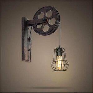 APPLIQUE  Luminaires de lampe mural parapluie Vintage poulie
