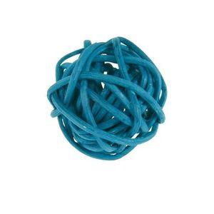 Décors de table Boule de rotin bleu turquoise foncé, 3cm (x6) REF/