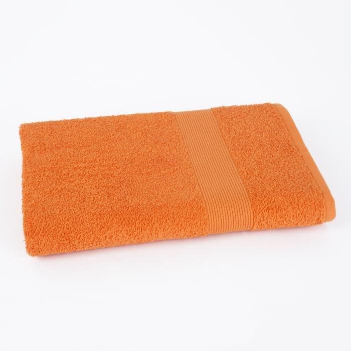 Drap de douche 70x140cm VIVA - 100% coton 500gr/m² - Orange - Production BelgeSERVIETTE DE BAIN - DRAP DE BAIN