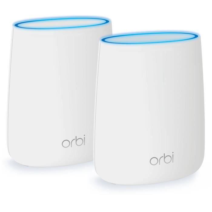 ORBI Système WiFi MultiRoom - RBK20-100PES - Tri-Band AC2200 Pack de 2 (1 Routeur et 1 Satellite)