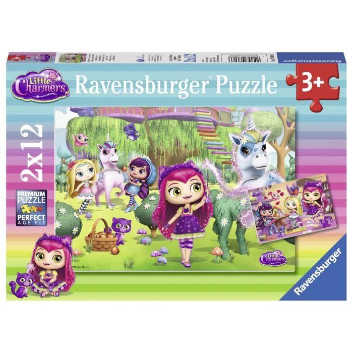 Ravensburger - Pz 2x12p Amitié magagique Mini sorcières - Mixte - A partir de 3 ans - Livré à l'unitéPUZZLE
