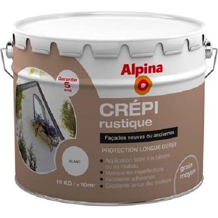 Crépi Extérieur Alpina 5 Ans 15kg Ton Pierre