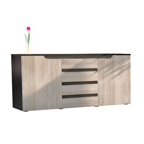 bahut wenge achat vente bahut wenge pas cher cdiscount. Black Bedroom Furniture Sets. Home Design Ideas