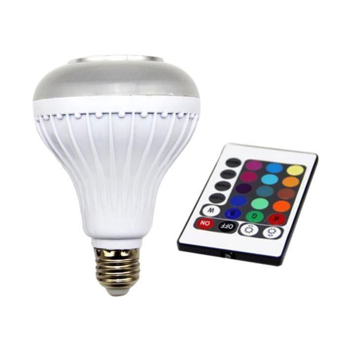 Smart Led Haut-parleur De Musique Portable Sans Fil Rc Coloré Bluetooth 3.0 Lampe Dimmable Ampoule Couleur Changeant
