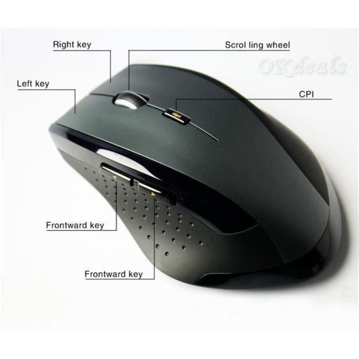 Souris Sans Fil 2 4 Ghz Mini Computer Gaming Mouse Pour Ordinateur